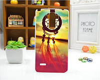 Силиконовый бампер чехол с рисунком для LG G4 Stylus Ls770 H630