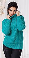 Женский теплый свитер под горло №р2038