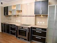 Кухня под заказ с фасадов ДСП в алюминиевом профиле, фото 1