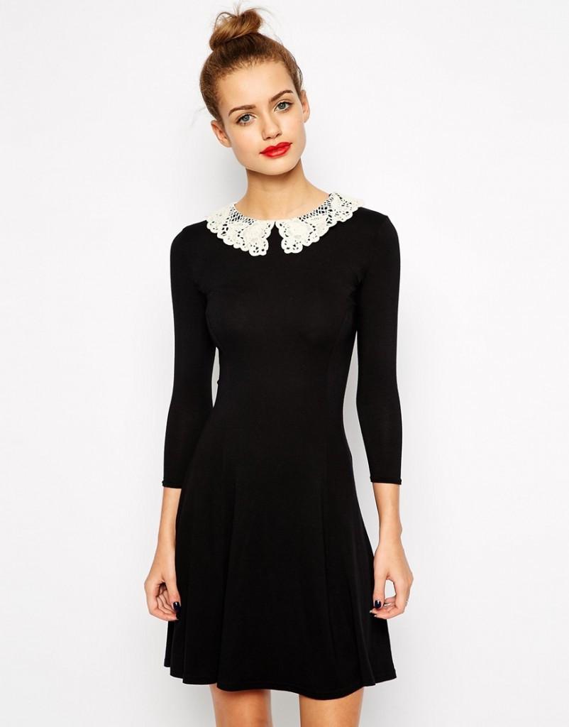 Новое синее платье с воротничком New Look