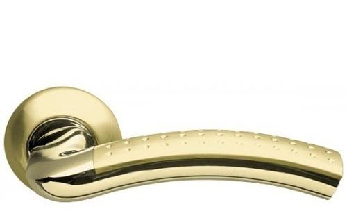 Дверная ручка круглой на розетке Armadillo Libra матовое золото/золото (Китай)