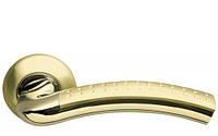 Дверная ручка круглой на розетке Armadillo Libra матовое золото/золото (Китай), фото 1