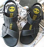 Мужские босоножки в стиле Timberland черная кожа сандали сандалии обувь лето, фото 6