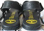 Мужские босоножки в стиле Timberland черная кожа сандали сандалии обувь лето, фото 5