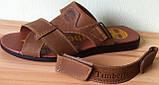 Мужские босоножки в стиле Timberland черная кожа сандали сандалии обувь лето, фото 10