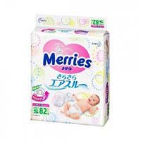 Детские подгузники Merries  размер S 4-8 кг 82 шт.