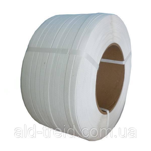 Стреппинг-лента (полипропиленовая) 19*0,9 (1000м) белая, укрепленная