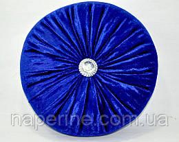 Декоративная подушка в восточном стиле синяя