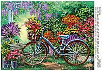 """Схема для частичной вышивки бисером """"Велосипед"""""""