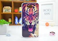 Силиконовый бампер чехол с рисунком для LG L90 D410 D405