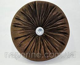 Декоративная подушка в восточном стиле коричневая