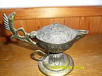 Старинная Лампа Алладина бронза