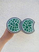 Пластиковый светящийся бордюр, для оформления клумб, светящийся в темноте Зеленый (304)