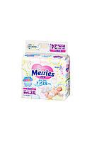 Подгузники Merries  для новорожденных NB 0-5 кг 24 шт.
