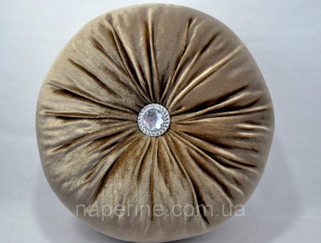 Декоративная подушка в восточном стиле бежевая
