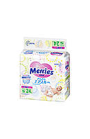 Детские подгузники Merries размер S 4-8 кг 24 шт.