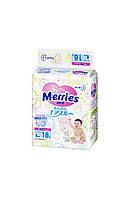 Детские подгузники  Merries размер L 9-14 кг 18 шт.