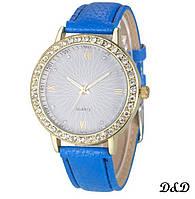 Часы женские синие с камнями