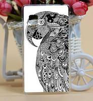 Силиконовый бампер чехол с рисунком для LG Optimus L5 II Dual E455