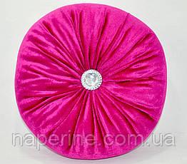 Декоративная подушка в восточном стиле малиновая