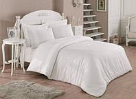 Однотонное постельное белье с кружевом от Cotton box
