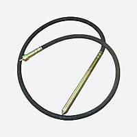 Гибкий вал (3 м) с булавой для глубинного вибратора (диаметр 38 мм), фото 1