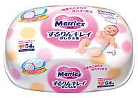 Детские влажные салфетки Merries , контейнер 54 шт.