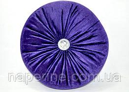 Декоративная подушка в восточном стиле черничная
