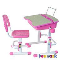 Парта регулируемая и стульчик FunDesk Capri Pink, фото 1