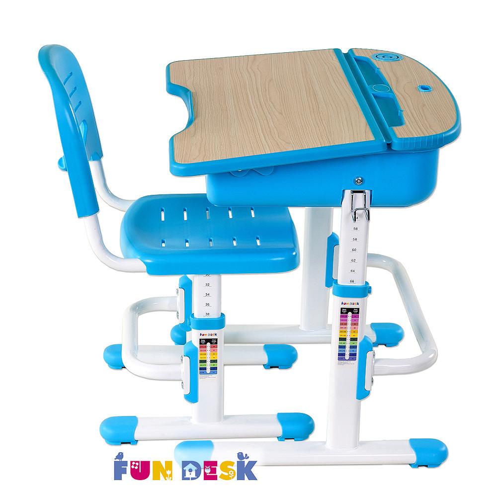 Детская парта со стульчиком FunDesk Capri Blue - Интернет-магазин  mebel-alliance.in.ua в Киеве