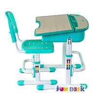 Парта и стульчик для школьника FunDesk Capri Green