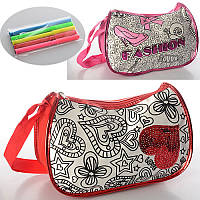 Детская сумка-раскраска на длинной ручке MK 0842
