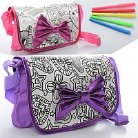 Детская сумка-раскраска на длинной ручке MK 0844