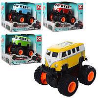 Игрушка автобус металлический инерционный XG879-13A