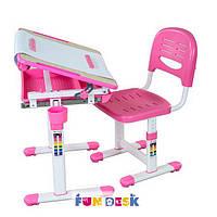 Детская парта растишка и стульчик FunDesk Bambino Pink, фото 1