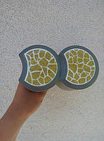 Пластиковый светящийся бордюр, для оформления клумб, светящийся в темноте Желтый (305)