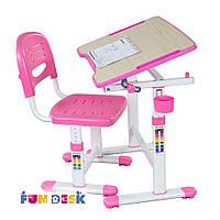 Растущая школьная парта для девочки FunDesk Piccolino II Pink
