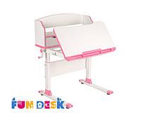 Детский стол-трансформер FunDesk Pensare Pink + светодиодная лампа L4