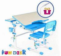 Парта и стульчик для школьника для дома FunDesk Lavoro Blue