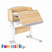 Детский стол-трансформер для школьника FunDesk Pensare Grey + светодиодная лампа L4