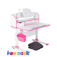 Парта для школьника для дома FunDesk Sentire Pink+ светодиодная лампа FunDesk L5