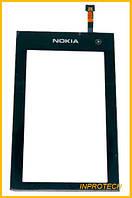 Сенсор (тачскрин) Nokia 5250 Black (с клейкой лентой)