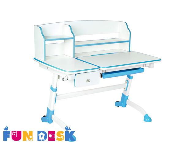 Стол парта трансформер  FunDesk Amare II Blue с ящиками