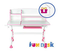 Растущая детская парта FunDesk Amare II Pink + лампа L4