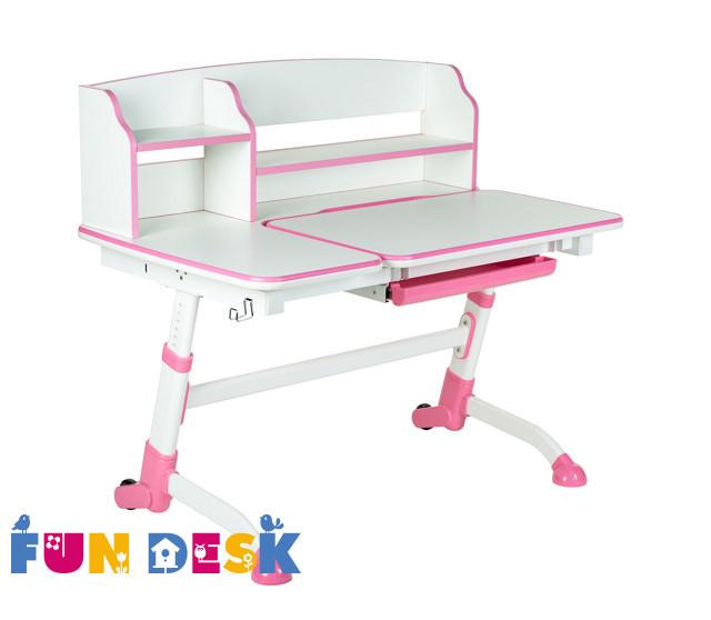 Растущая детская парта стол FunDesk Amare II Pink