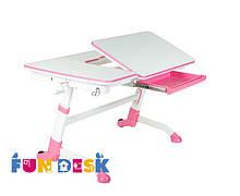Стіл парта-трансформер FunDesk Amare Pink для будинку і школи