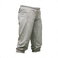 Женские светло-серые бриджи трикотаж на манжете BZ1366N-3