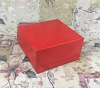 Коробка Красная для 4-ох кексов БЕЗ окна 170*170*90
