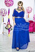 Женское длинное нарядное платье АС122