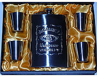 Подарочный набор для мужчин Jack Daniels (фляга и 4 рюмки)
